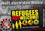 Aufkleber - Refugees not Welcome!